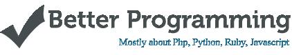 Better Programming - Portfolio